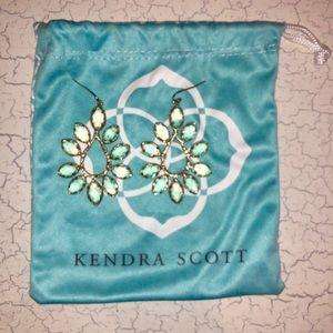 Kendra Scott Nyla Earrings in yellow quartz